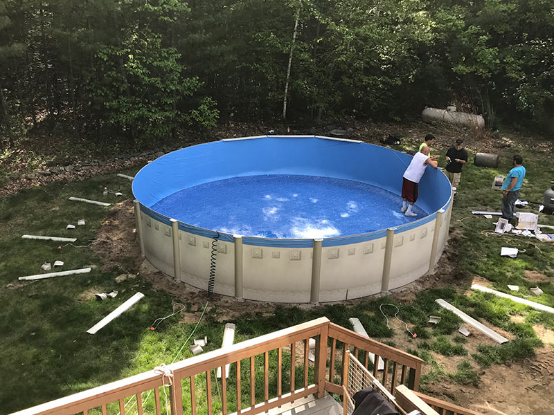 Above ground pools spartan concrete services inc for Top of the line above ground pools